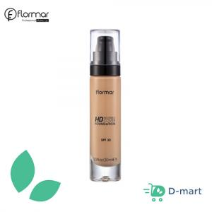 Flormar Invisible Cover HD Foundation - 10 Pink Porcelain