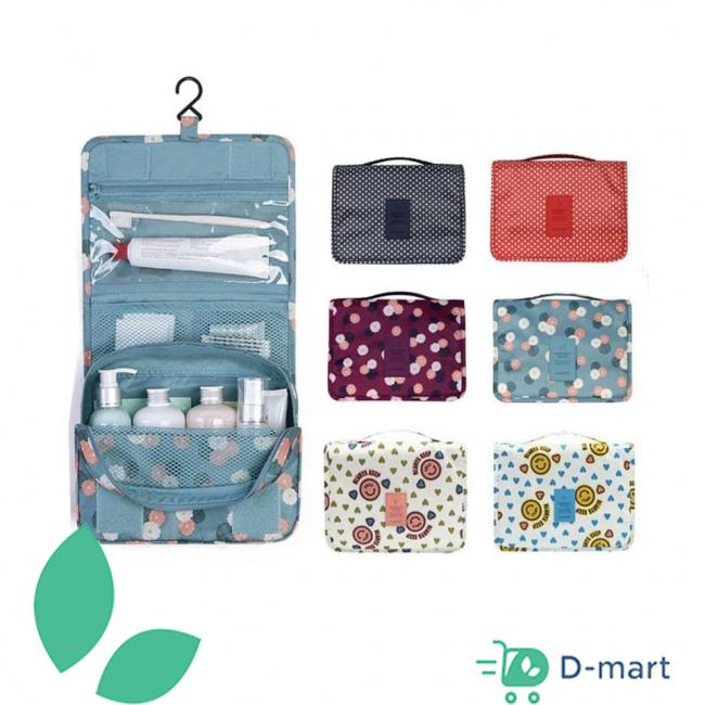 Portable Waterproof Cosmetic Makeup Toiletry Travel Hanging Organizer Storage Bag - Multiple colors Pouch